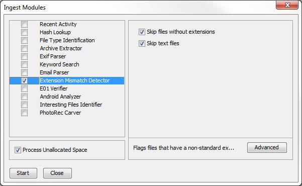 Autopsy User Documentation: Extension Mismatch Detector Module