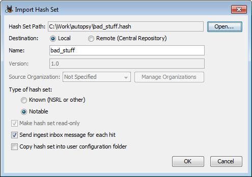 Autopsy User Documentation: Hash Lookup Module